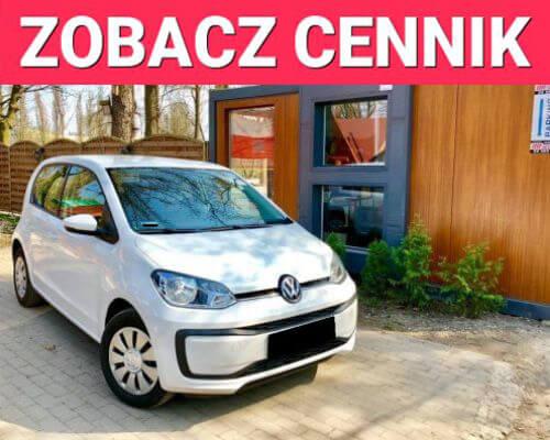 Volkswagen up wynajem samochodów warszawa