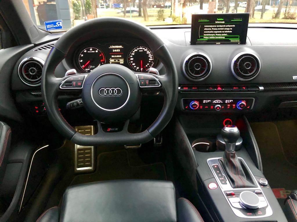 Audi RS3 wynajem samochodów warszawa 7