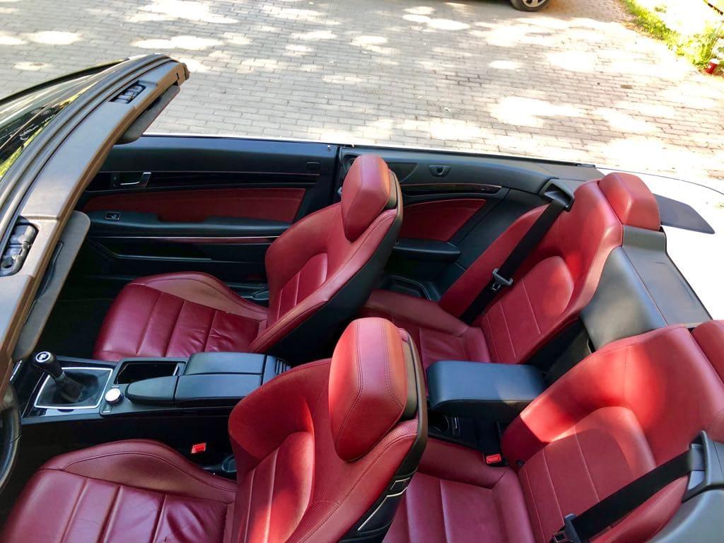 MERCEDES E200 Cabrio wynajem samochodów warszawa 11