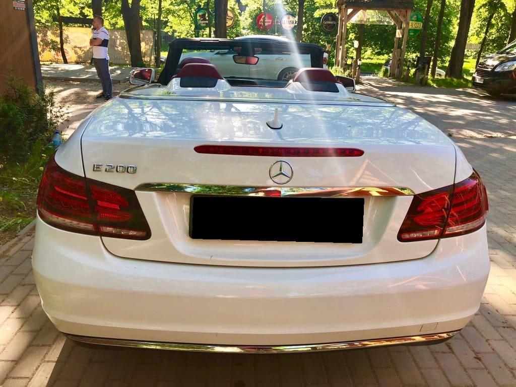 MERCEDES E200 Cabrio wynajem samochodów warszawa 2