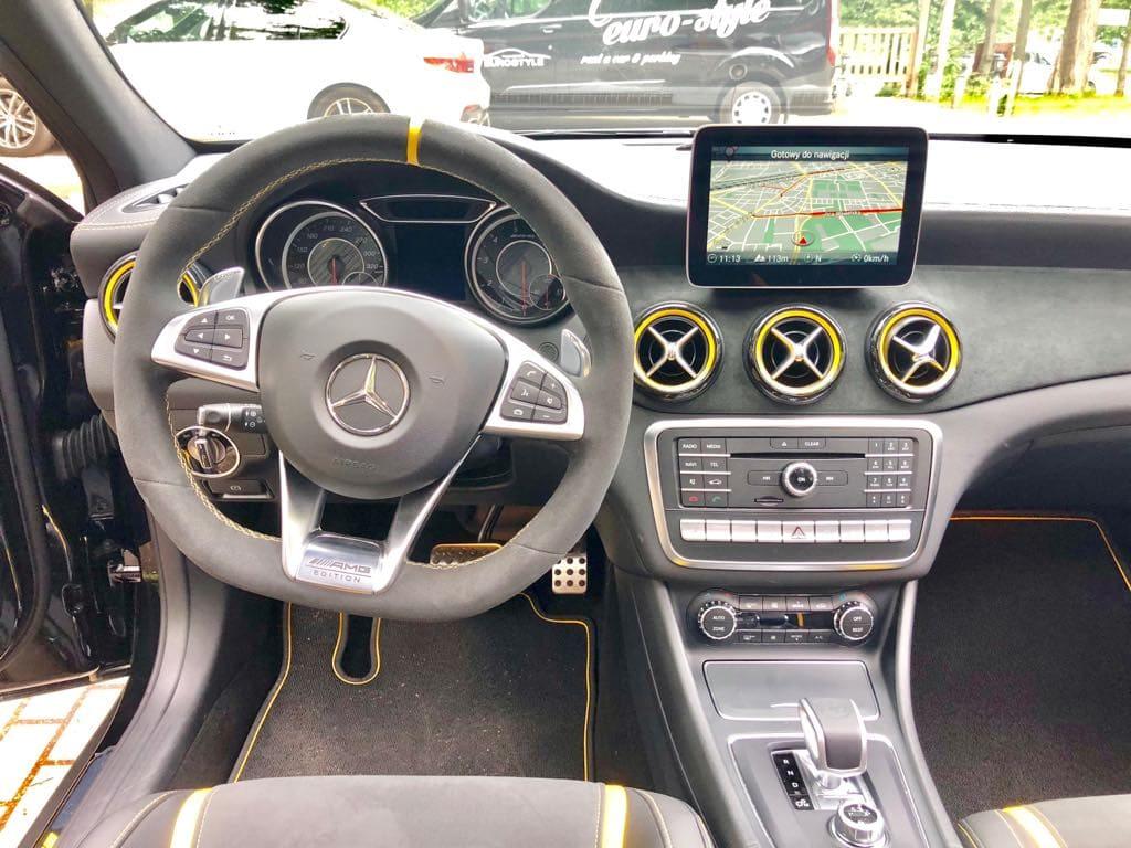 Mercedes GLA45 AMG wynajem samochodów warszawa 8