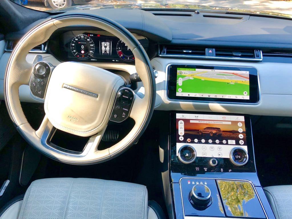 Range Rover Land Rover Velar wynajem samochodów warszawa 7
