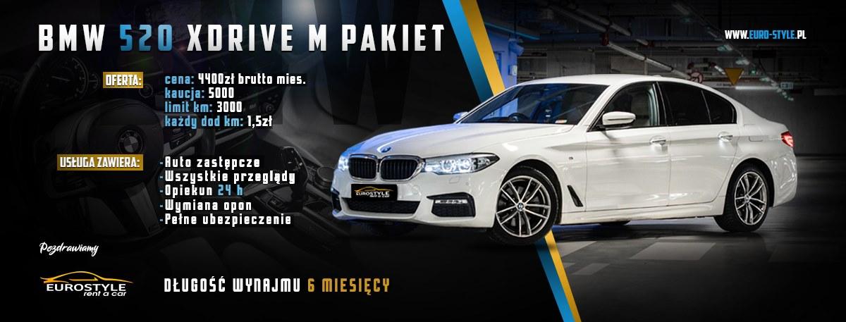 BMW 5 Wynajem długoterminowy warszawa